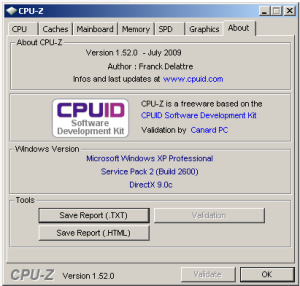 FREE Download – CPUZ 1.52beta