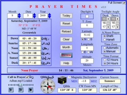 Flash prayer time
